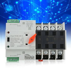 Dual Power Automatic Transfer Switches 4p 100a 400v Transfer Switches 50 60hz Fz