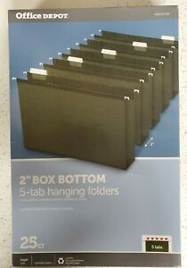 Office Depot Legal Size 2 Box Bottom 5 Tab Hanging Folders 25ct