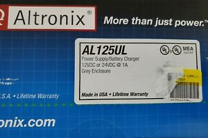 Altronix Power Supply battery Charger 12vdc 24vdc 1 Amp Al125ul New Opened Box