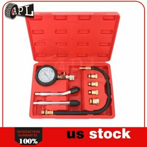 Cars Diesel Petrol Engine Cylinder Pressure Tester Motor Compression Gauge Test