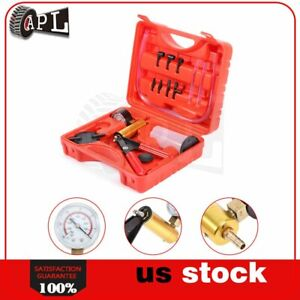 2 In 1 Brake Bleeder Vacuum Pump Gauge Test Tuner Kit Tools Diy Hand Tools New