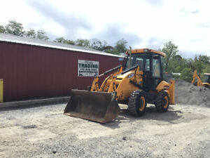 2014 Jcb 2cx12 Compact Tractor Loader Backhoe W Cab 4 1 Bucket Only 3300hrs