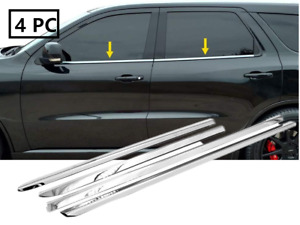 Stainless Steel Polished Chrome Window Sill Trims For 2011 2017 Dodge Durango