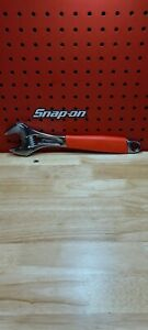 Snap On Tools New 12 Red Grip Flank Drive Plus Adjustable Wrench Fadh12b
