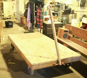 4ft X 8ft Industrial Steam Punk Railroad Bed Frame Table Loading Cart Trailer
