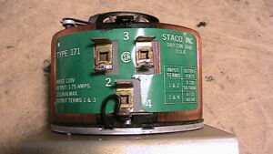 Staco Type 171 Variable Autotransformer Variac 1 75 Amps 120v 231 Kva