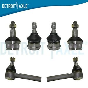 6pc Front Ball Joints Outer Tierod Kit For 1998 2009 2010 2011 Ford Ranger Rwd