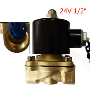 Brass Electric Solenoid Pneumatic Valve Npt Gas Oil Water Air 24v Ac