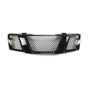 Front Bumper Grille Mesh Glossy Black For Nissan Frontier 2005 2008