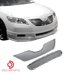 Fits Toyota Camry 2007 2008 2009 Front Upper Lower Grille Set Mesh Style Chrome