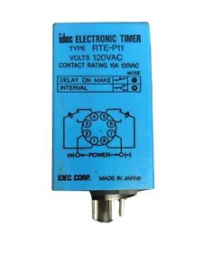 Idec Rte p11 Electronic Timer 120vac 8pin Relay Din Rail Base Electronic Used