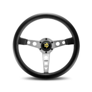 Momo Automotive Accessories Prototipo Steering Wheel Leather Silver Spoke P n