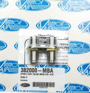 Vintage Air 2 Way In Line Bulkhead 10 And 10 O ring P n 382000 mba