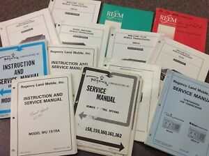 Various Vintage Relm Regency Radio duplexer Repeater Manuals Hard To Find