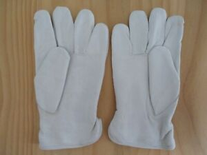 Lot Of 12 Pairs Sheepskin Leather Fleece Lined Drivers Work Gloves Size M