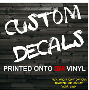 Custom Text Image Decal Sticker 3m Vinyl Graphics For Car Truck Window Bumper