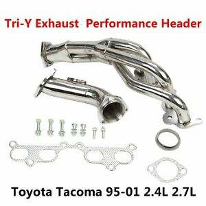 Tri Y Exhaust Manifold Performance Header For Toyota Tacoma 95 01 2 4l 2 7l L4