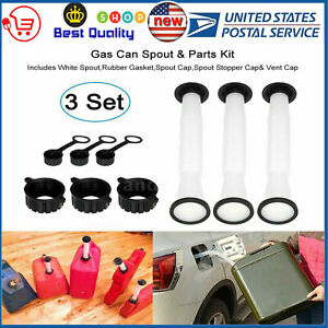 3 Sets Rubbermade Replacement Gas Can Spout And Parts Kit Blitz Rubbermaid Usa