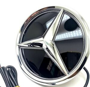 For Mercedes Benz 2006 2013 W204 Front Grille Grill Mirror Star Emblem Led Light