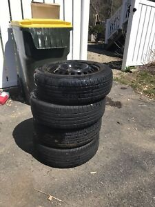 Mounted Radial Tires 185 65 r15 Was On Older 2002 Honda Accord Good Tread Left