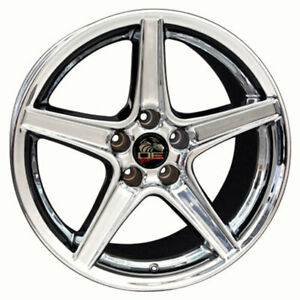 18 Chrome Wheel 18x10 Fit For Mustang Saleen Style Rim
