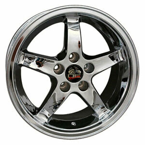 17 Chrome Wheel 24mm Offset Fit For Mustang Cobra R Deep Dish Style Rim