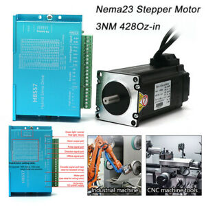 3nm Closed loop Stepper Motor Nema23 428oz in Hybrid Servo Driver For Cnc Router