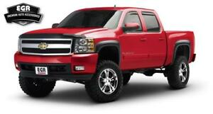 Egr Rugged Black Fender Flares Set For 2007 2013 Chevrolet Silverado 1500 751404