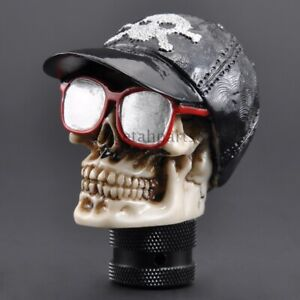 Cool Peaked Cap Skull Car Manual Gear Stick Shift Knob Shifter Lever For Ford