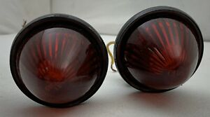 Used Beehive Pm Co 110 Tail Brake Stop Clearance Light Pair Vintage Rat Rod Red