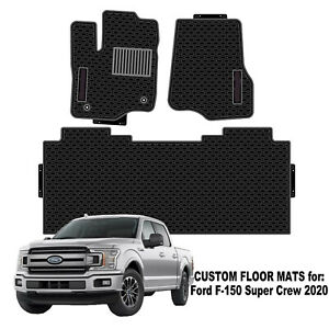 Car Floor Mats Custom Fit For Ford F 150 2020 Super Crew All Weather Protect