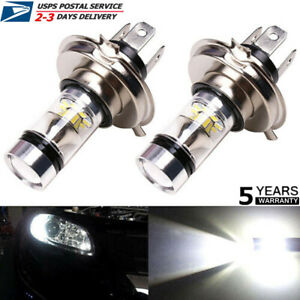 2x H4 9003 Hb2 Led Headlight Fog Light 100w High low Beam Driving Drl Bulb 6000k