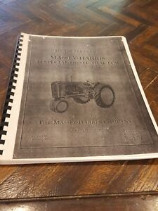Massey Harris 44 Special Diesel Tractor Parts Catalog Manual S n 50001 up 1955