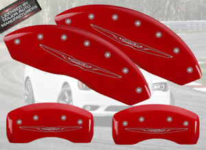 2011 2019 chrysler 300 Front Rear Red Mgp Brake Disc Caliper Covers Wing Br3