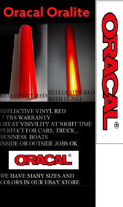 12 X 5 Ft Red Reflective Vinyl Adhesive Cutter Sign Made In Usa Oracal Oralite