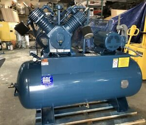 Nice Quincy 120gal Horizontal Air Compressor 15hp