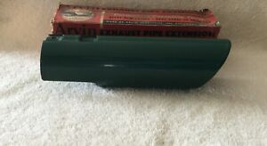 Nos Green Porcelain Paint Exhaust Extension Accessory Vintage Tail Pipe Tube