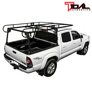 Adjustable Truck Contractor Ladder Lumber Rack Loads Up To 800 Pounds