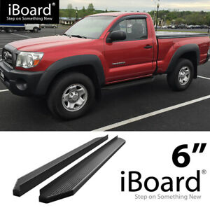 Running Board Side Step Flat Fit Toyota Tacoma Standard Cab 05 20