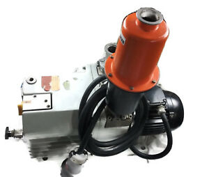 Vacuum Pump Pfeiffer Uno 035d Alcatel Two stage Rotary Industrial Valve