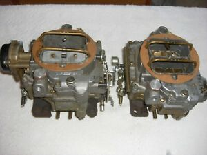 Nos 1957 1961 Corvette Chevy Carter Wcfb 2x4 Dual Quad Carburetors Matched Set