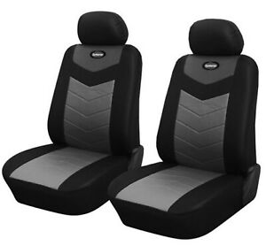 Black Leather Like 2 Front Auto Car Seat Covers Compatible To Dodge 2577