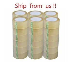 1 6 12 18 24 36 72 Rolls 2 X 330 Ft Clear Packing Tape 110 Yards 2mil
