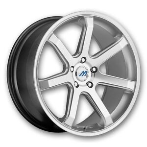 19 Inch 2crave Mach 7 Hyper Silver Wheels Rims Tires Fit Toyota Honda Chevy