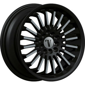 24 Inch Velocity V18 Black Machine Wheels Rims Fit 6 X 5 5 Escalade Tahoe