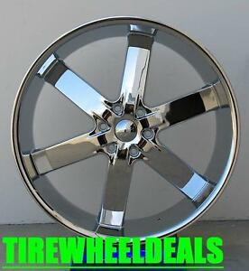 22 Inch U2 55 Wheel Rims Tires Fit 6 X 139 7 Avalanche Silverado Sierra