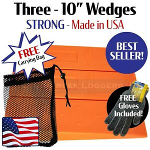 3 10 Usa Hard Logging Felling Bucking Tree Forestry Falling Spiked Wedges