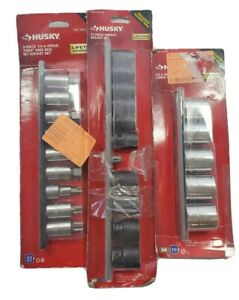 Husky 1 2 In Drive Torx And Hex Bit Standard Metric Impact X large Socket Set