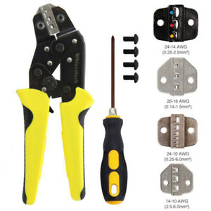4 In 1 Insulated Ratcheting Terminals Set Wire Crimpers Wire Strippers Tool Kit