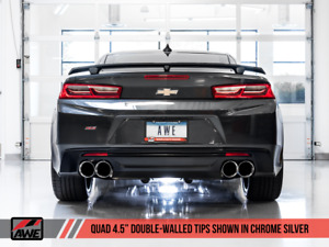 2016 2020 Camaro Ss Zl1 Awe Axleback Exhaust Track Edition Quad Outlet 16hp